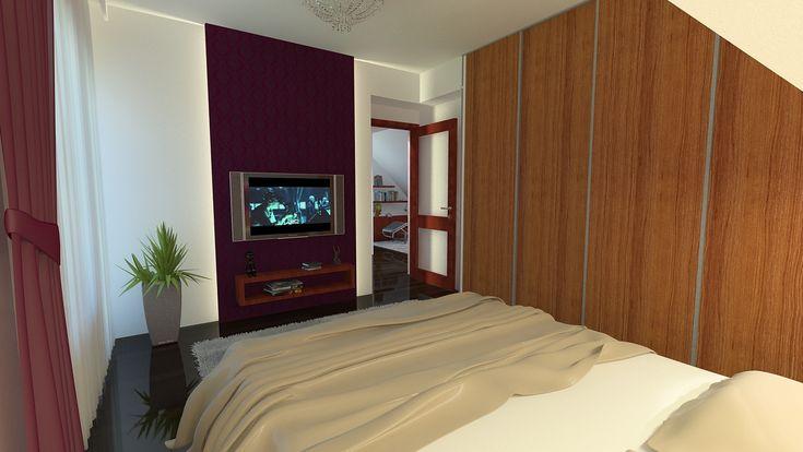 Hálószoba látványterv / Bedroom - architectural visualisation
