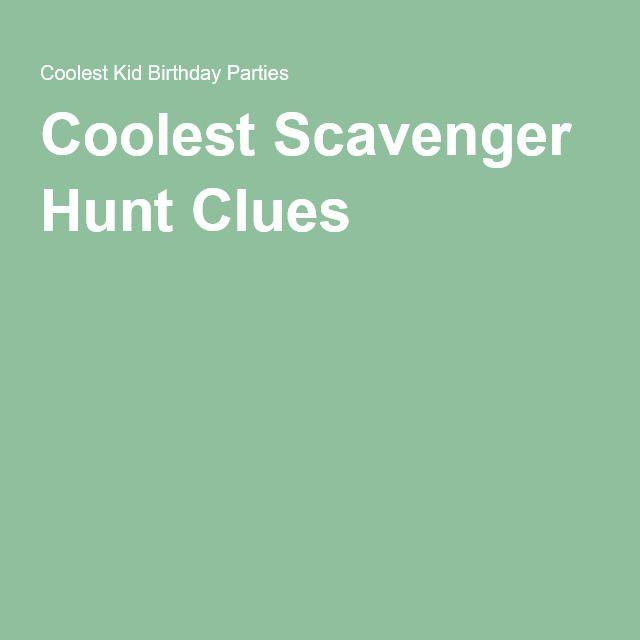 Coolest Scavenger Hunt Clues