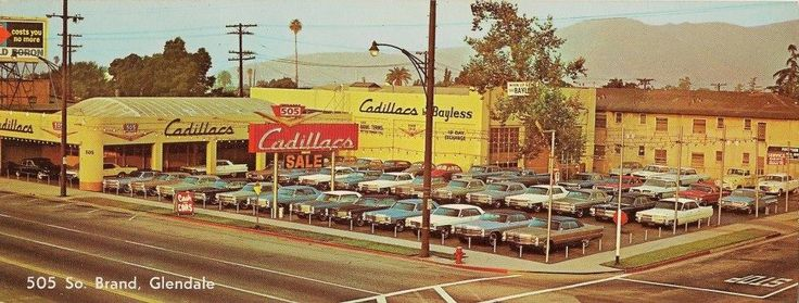 bayless cadillac glendale california 1966 vintage car dealers gas stations pinterest. Black Bedroom Furniture Sets. Home Design Ideas
