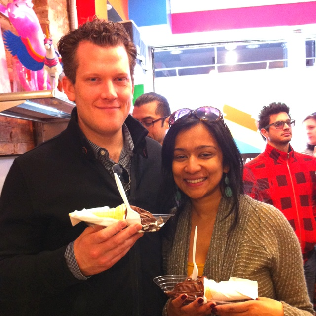 Kevin and Esha from D.C. and New York! Thanks for being our #1s today!: 1S Today, New York