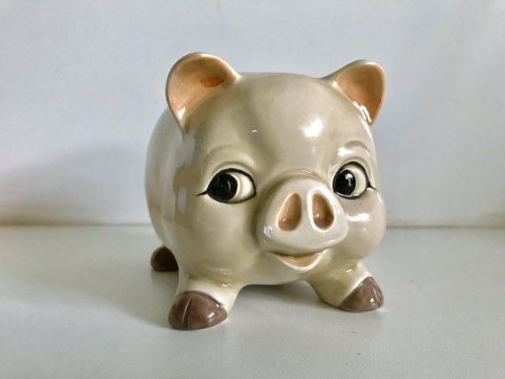 Midcentury Japan Ceramic Piggy Bank by 4EnvisioningVintage on Etsy