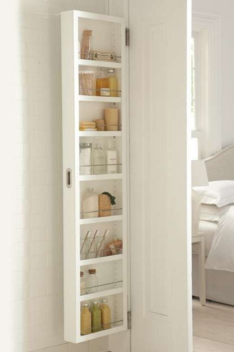 Gain space and eliminate clutter in your bath, pantry, or craft room without remodeling or adding furniture.