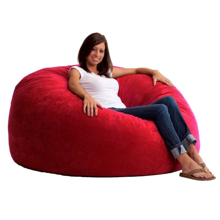 FUF 5 ft. King Comfort Suede Bean Bag Sofa Sierra Red - 0005179