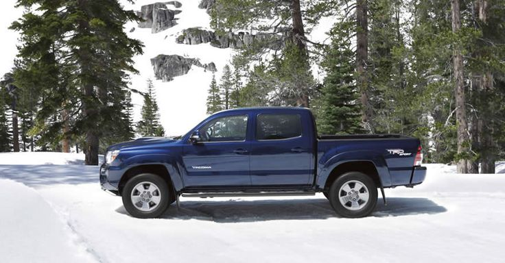 2012 Toyota Tacoma 4x4 Double Cab shown in Nautical Blue Metallic with available TRD Sport Package, V6 Tow Package
