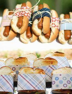 Comida para fiesta de picnic.