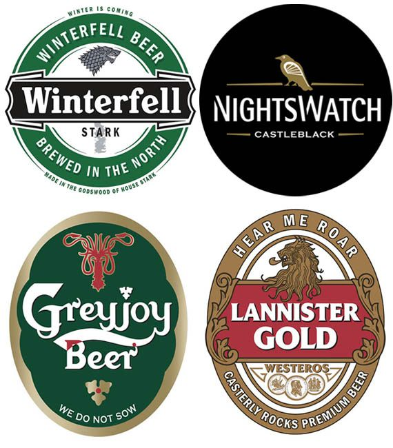 Game of Thrones Beer Labels @gameofthrones I'll have a pint of NightsWatch So putting these on my hubby's beers! Cheers to the next season!