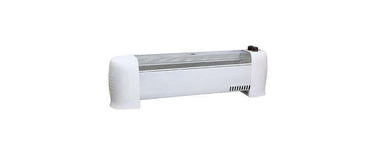 Comfort Zone CZ600 Radiant Baseboard Heater with Adjustable Thermostat Metal Heaters Baseboard Heater Heater