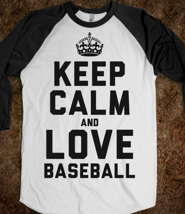 Keep Calm and Love Baseball (Baseball Tee) - Sports Girl - Skreened T-shirts, Organic Shirts, Hoodies, Kids Tees, Baby One-Pieces and Tote Bags