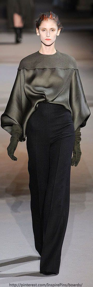 Haider Ackermann - Love the wide leg trousers and fluid fabric of the top.