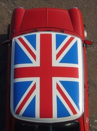 the perfect car a vintage mini with a union jack on the. Black Bedroom Furniture Sets. Home Design Ideas