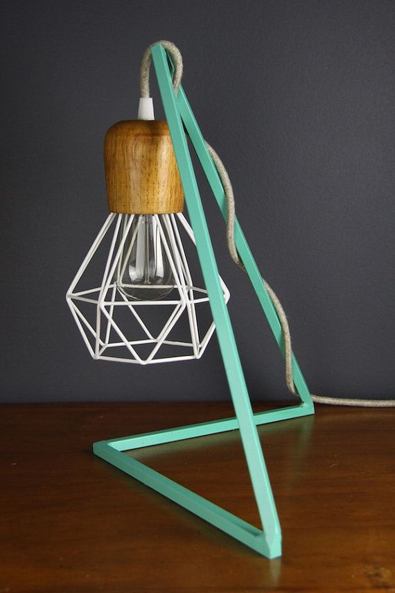 Geometric steel bed side pendant light lampstand bracket frame hanging lamp support.