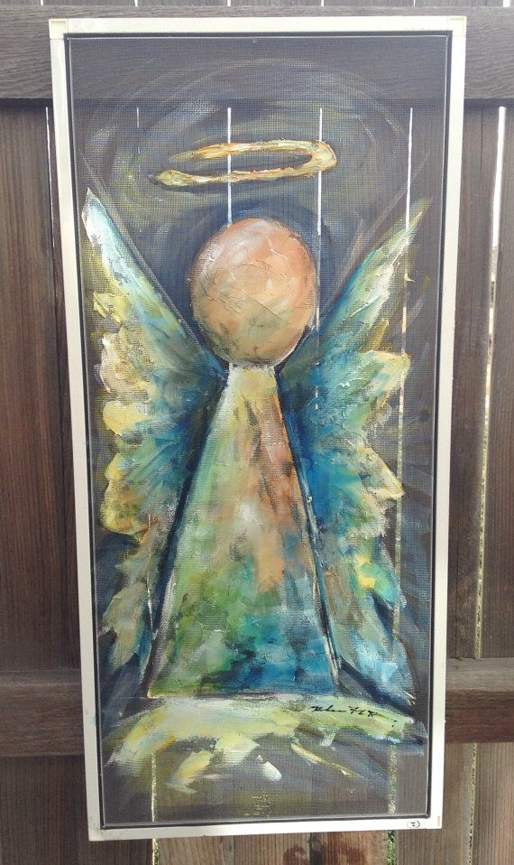Hey, I found this really awesome Etsy listing at https://www.etsy.com/listing/213842710/recycle-old-window-screen-hand-painting