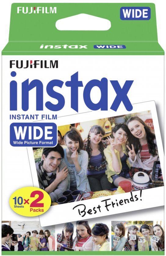Fujifilm Instax wide film glans - 2x10 pak (niet voor instax mini)