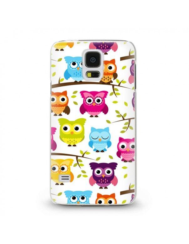 Handyhülle Für Samsung Galaxy S5 Mini ( Eule ) - hochwertige Schutzhülle im modernen Design.