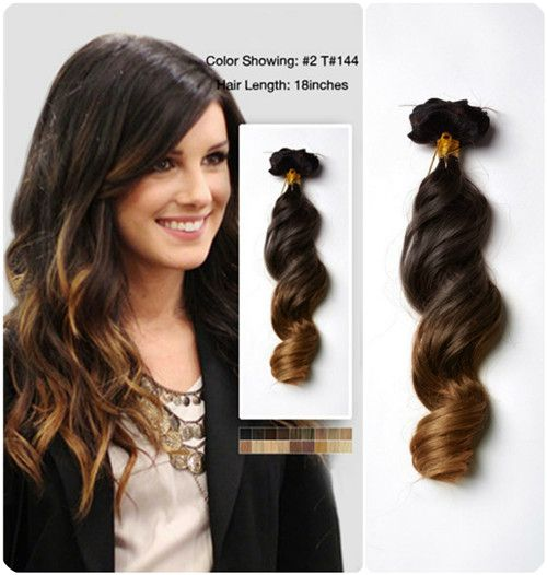 Best 25 ombre human hair extensions ideas on pinterest ombre 18 inches wavy two tone ombre human hair extension clip on usw156 pmusecretfo Gallery