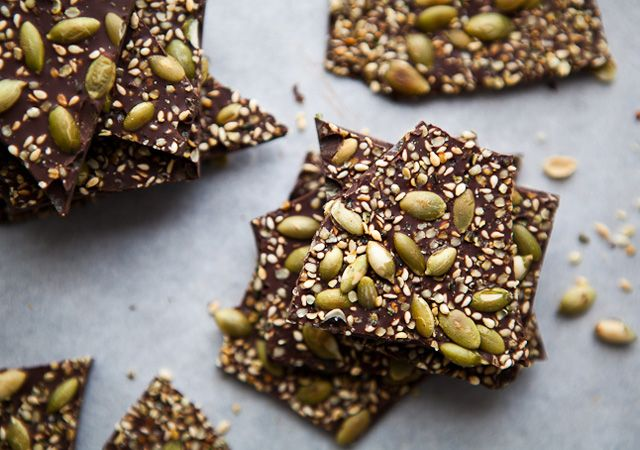 Salty Seedy Chocolate Bark by bonappetit:  Part of Bon Appetit's Food Lover's Cleanse 2013 #Chocolate_ Bark #Cleanse
