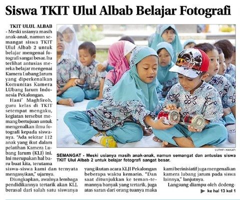 pinhole photography workshop for children @ Pekalongan