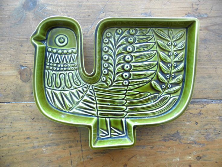 Vintage Poole Dish Tray Plaque Funky Vintage Bird 1960s 70s Robert Jefferson | eBay