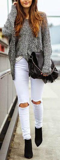Marled sweater.