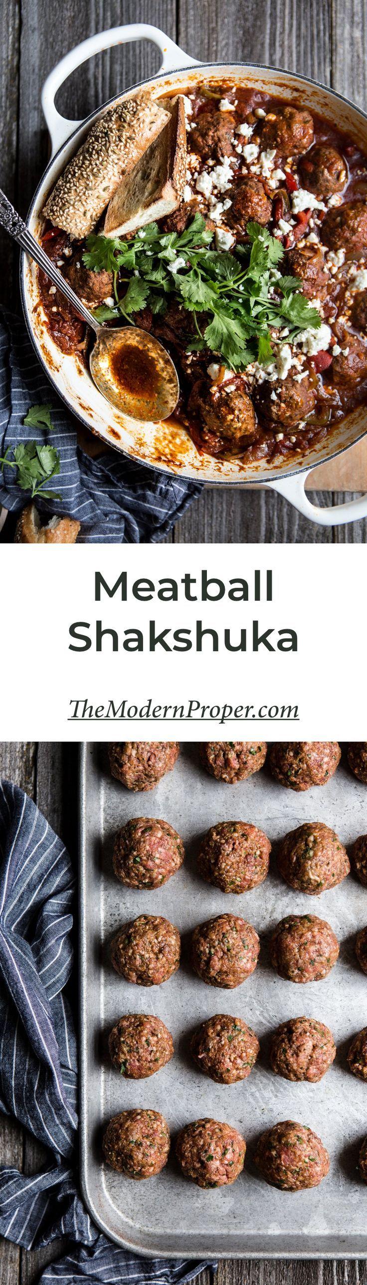 Meatball Shakshuka   #dinner #recipe #shakshuka