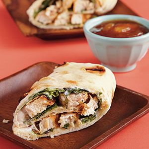 Family Lunch Recipes | Chicken Wraps with Mango Chutney | CookingLight.com