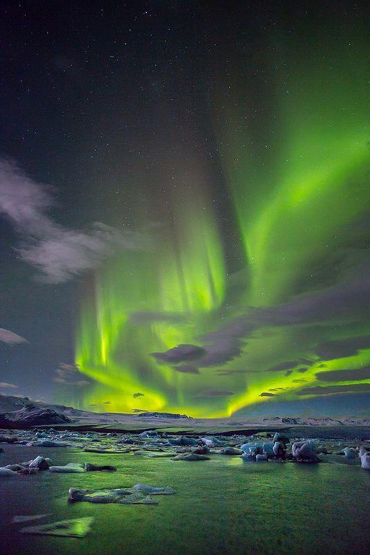 Northern Lights above Iceland: