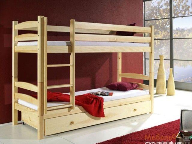 Двухъярусная кровать Лакки 80х190