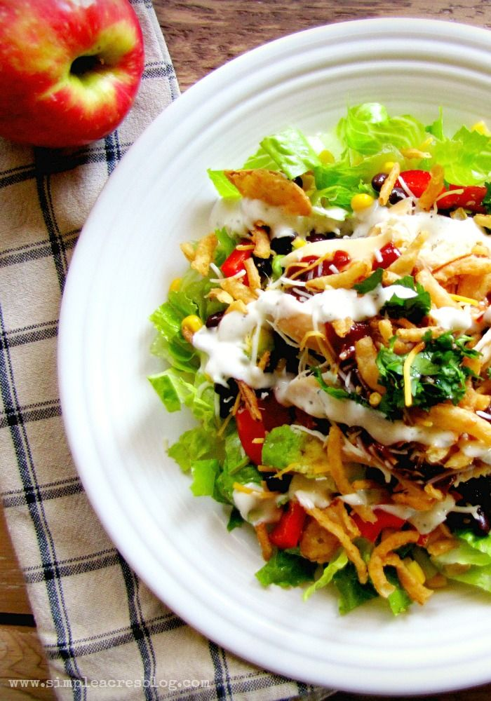 Bbq chicken salad healthy family meals salad and family Easy dinner recipes for family of 6