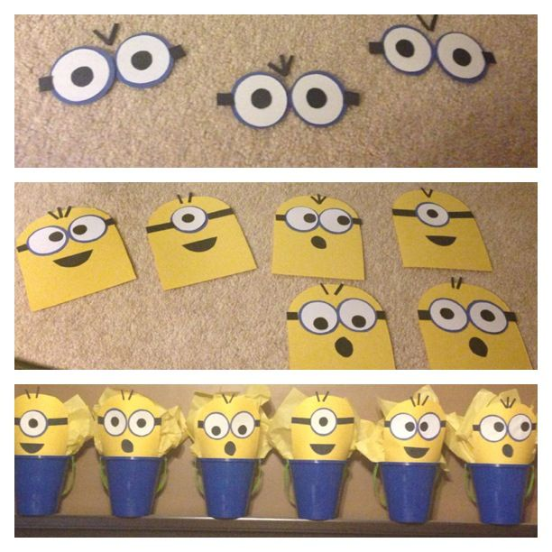 Minions Birthday Candy Buckets :)