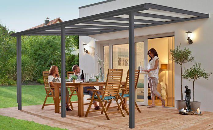 Terrassenüberdachung 4m x 2m mit Unterkonstruktion aus - auswahl materialien terrassenuberdachung