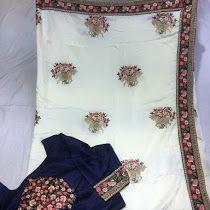 Crep silk thread work sarees | Buy online Partywear sarees
