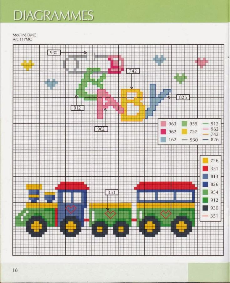Bordando mimos: Graficos para bebês