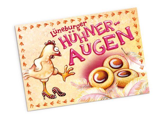 """Rezept Postkarte """"Hühneraugen"""""""