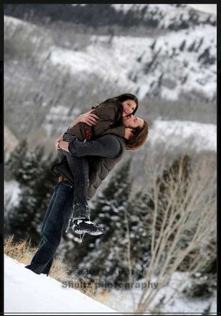 Jared Padalecki and Genevieve Cortese engagement (?) photos. Love this couple, and what an amazing photo!