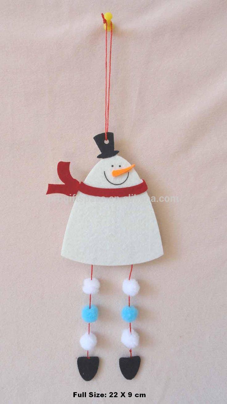 2015 novo hotsell eco de corda artesanal decorações feltro de lã projeto atacado decorativa porta cabides de natal ornamento do boneco de neve-imagem-Decorações de Natal-ID do produto:1863370562-portuguese.alibaba.com