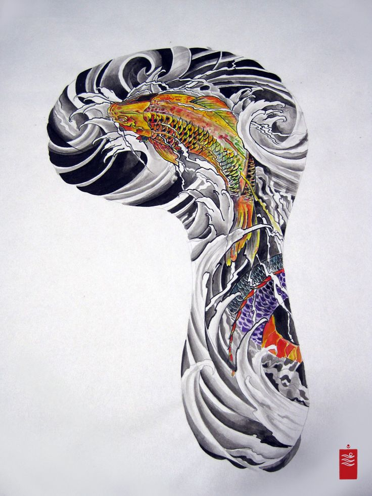 17 best ideas about koi tattoo sleeve on pinterest grime for Japanese koi design