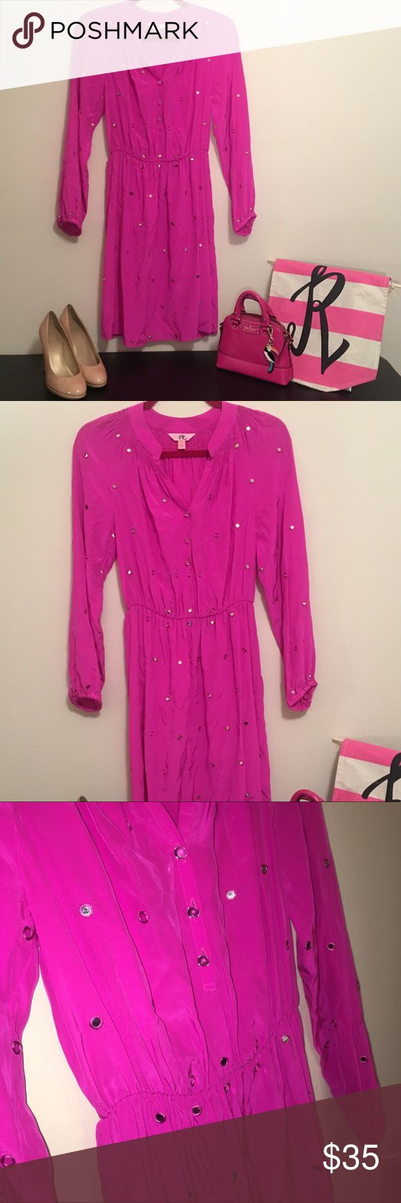 Sparkly Lilly Pulitzer Dress 💕 Sample Item 💕 💕 Sparkle all night long in this gorgeous Lilly dress! 100% silk with mirrored sequins throughout dress. Beautiful cinched waist and long sleeves. Item is marked as PR on the Tag. This is a warehouse sale sample. Size 4 it runs true to size. 💕 Smoke free, Pup friendly home. Items ship within 3 days or sooner! Check out my other Lilly items. bundles and reasonable offers welcome! Lilly Pulitzer Dresses