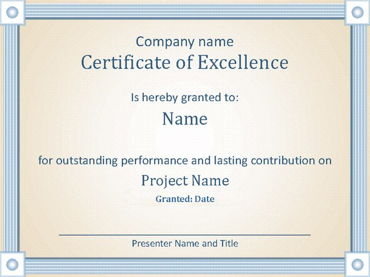 Reward an employee's outstanding performance with this accessible award certificate template.