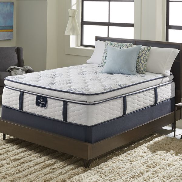 Amazing Serta Perfect Sleeper Elite Infuse Super Pillowtop King Size Mattress Set  (Low Profile Set), White Photo