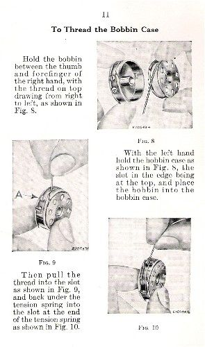 April 1930's - A Sewing Shoppe...How To Thread a Singer Featherweight Sewing Machine