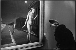 """FRANCE. Paris. Grand Palais. """"Peintres de l'imaginaire exhibition"""". Painting by Paul DELVAUX. by Martine Franck"""