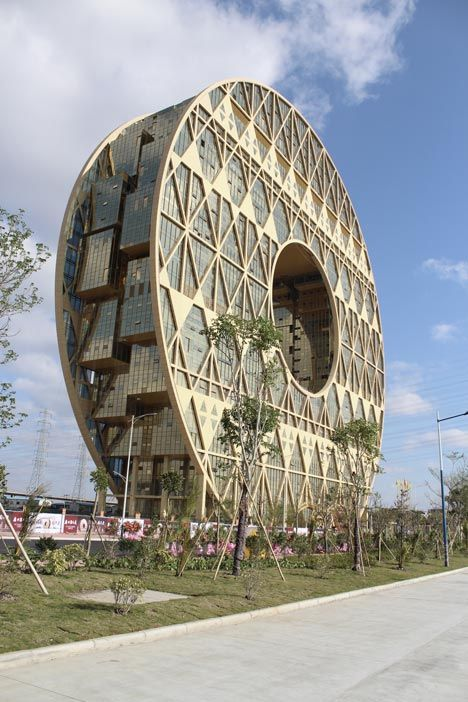 Doughnut-shaped skyscraper completed in Guangzhou. We deliver advertising campaigns throughout the UK and Europe, but we also welcome enquiries from around the globe too! For all of your advertising needs - www.adsdirect.org.uk