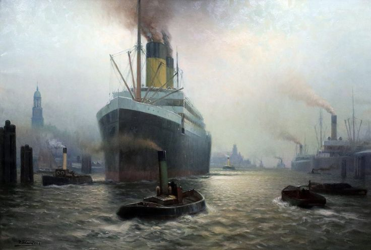 https://flic.kr/p/Ps4AYH | Johannes Harders. 1871-1950.   Paquebot dans le port de Hambourg.  Passenger ship in the port of Hamburg. Hambourg.    Musée International de la Marine. | Johannes Harders. 1871-1950.   Paquebot dans le port de Hambourg.  Passenger ship in the port of Hamburg. Hambourg.    Musée International de la Marine.