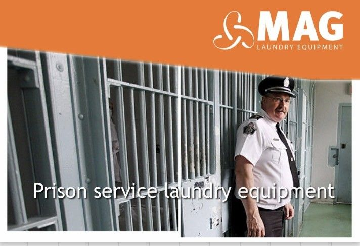 Prisons laundry equipment  MAG Laundry Equipment have been supplying this sector for many years. We fully understand the importance of laundry equipment in all Prisons. The Prison Industry demands the utmost level of cleanliness and efficiency and we are dedicated to providing only the very best laundry equipment to all our customers. All our