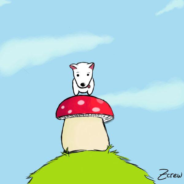 Ilustración digital on Behance #ilustracion #ps #photoshop #dog #hongo #perro #faco