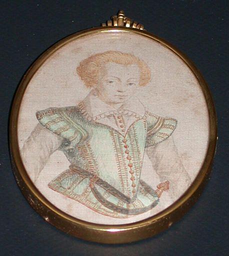 Henri II de Bourbon, prince de Condé miniature by Jacques de Gheyn ,c.1600