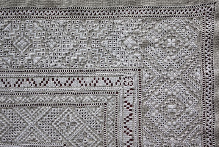 Ukrainian Whitework embroidery (detail) ~ by Joke Bosman
