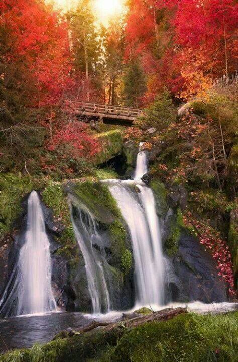 Black Forest Waterfall, Trieberg, Germany, Beautiful