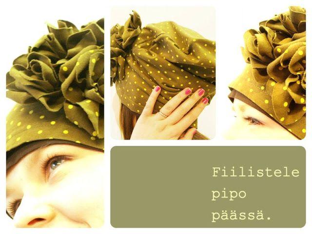 T-paidasta pipo:   http://diyhelsinki.blogspot.fi/2013/03/pipokarnevaali-tee-ekodesign-teko.html