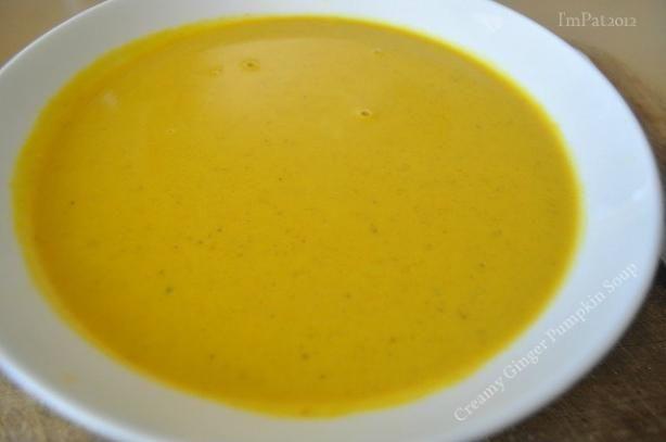 Creamy Ginger Pumpkin Soup | Recipe | Pumpkin Soup, Pumpkins and Soups